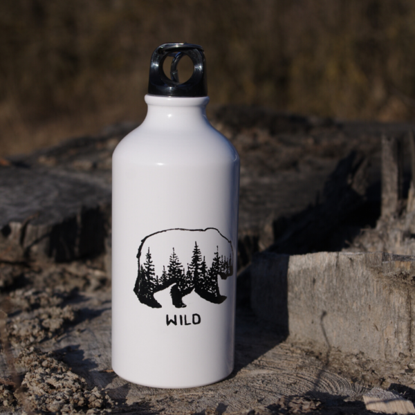 Butelka metalowa leśny niedźwiedż